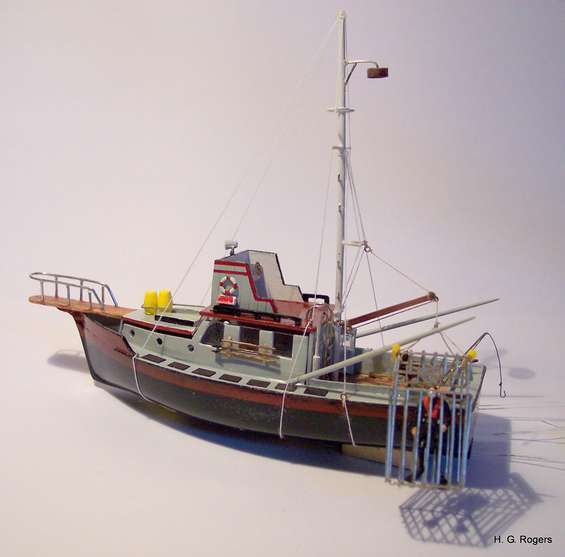 Orca Model with shark cage