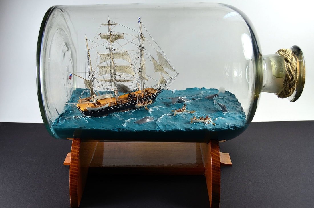 Charles W. Morgan Whaling Ship in Bottle